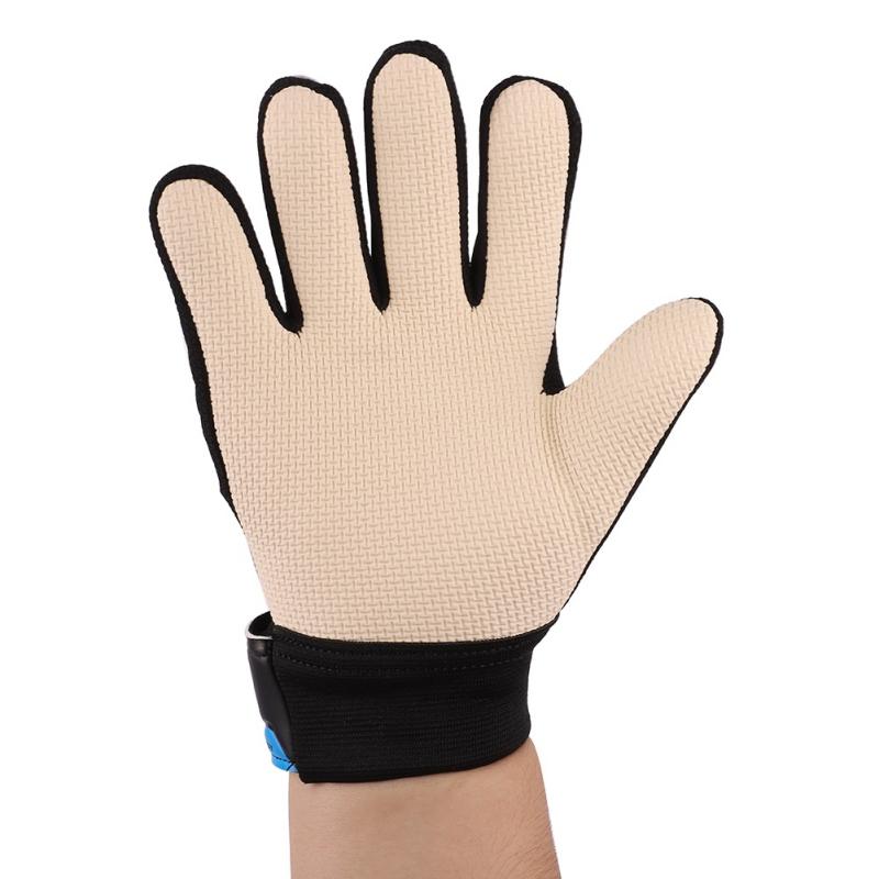 Kids-Adults-Teen-Sport-Football-Goalkeeper-Gloves-Goalie-Finger-Protector-Soccer thumbnail 7